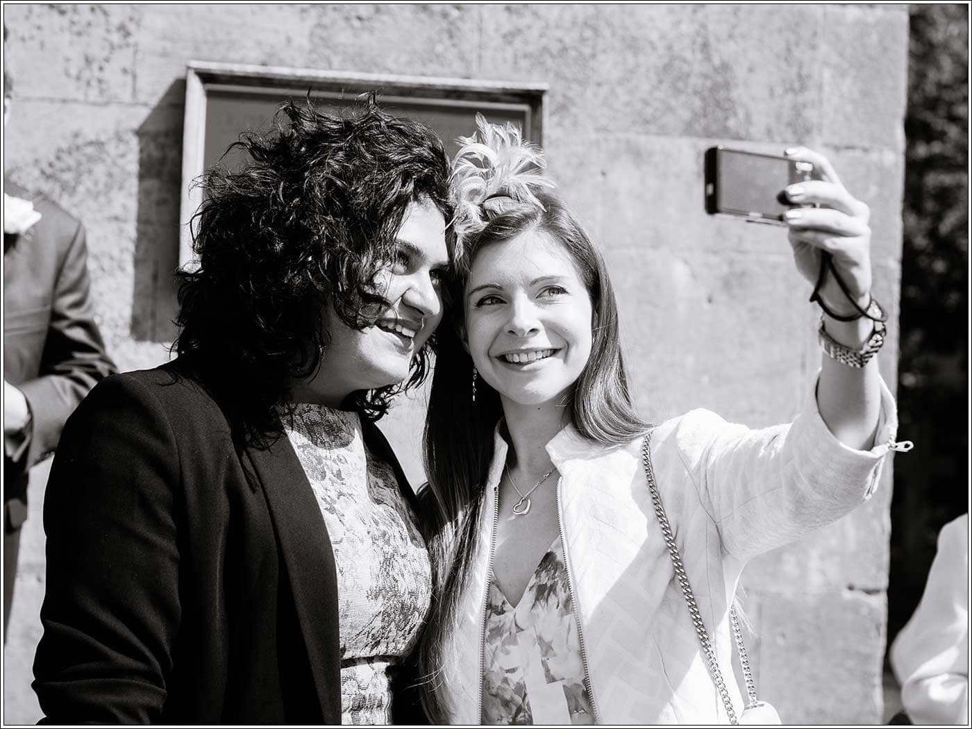 Guests taking selfie at Walton Hall