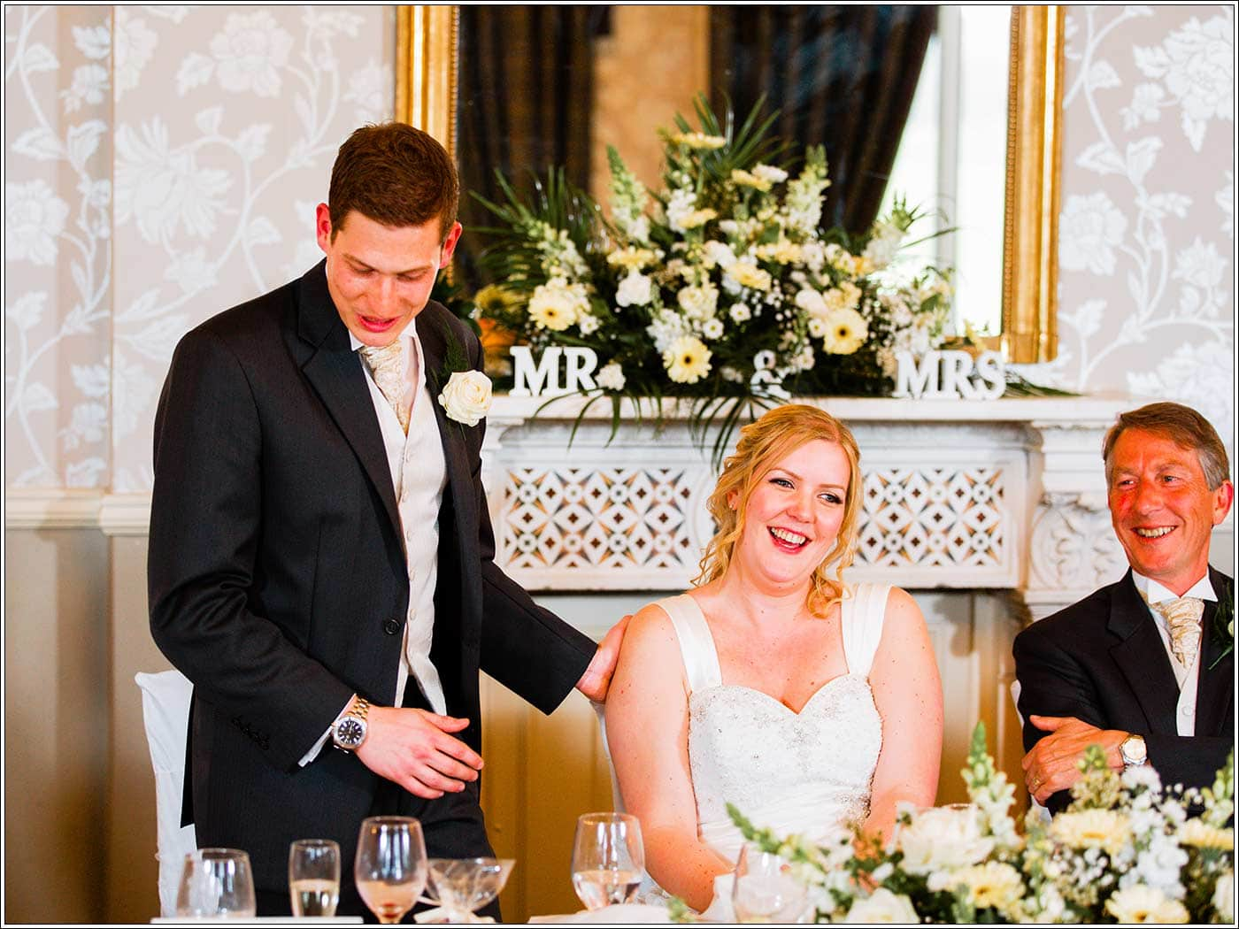 Speeches during Walton Hall wedding