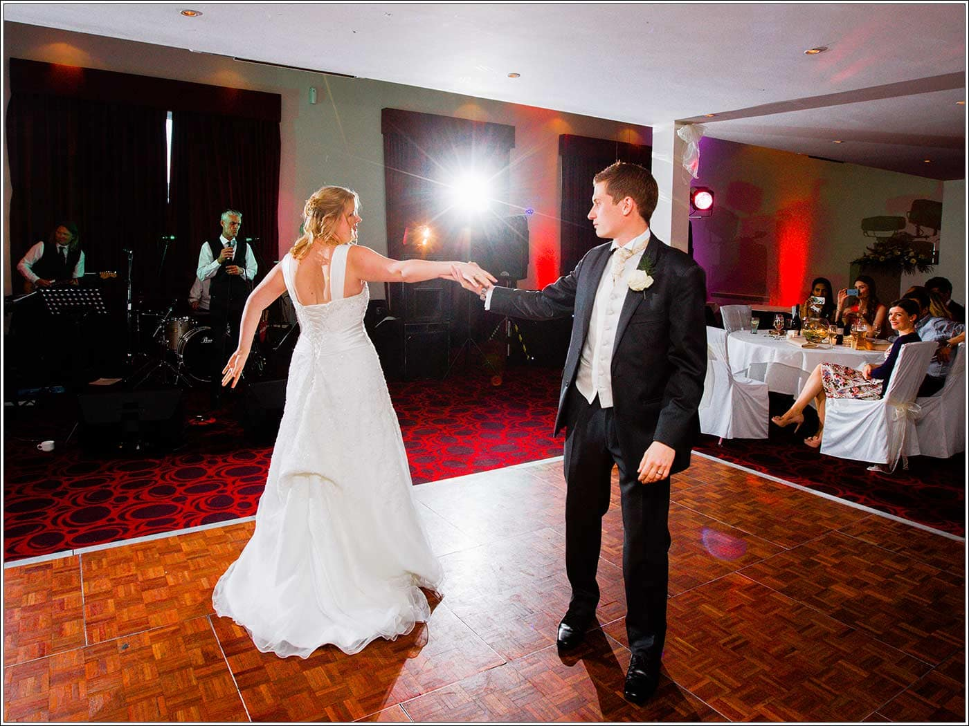 First dance at Walton Hall wedding