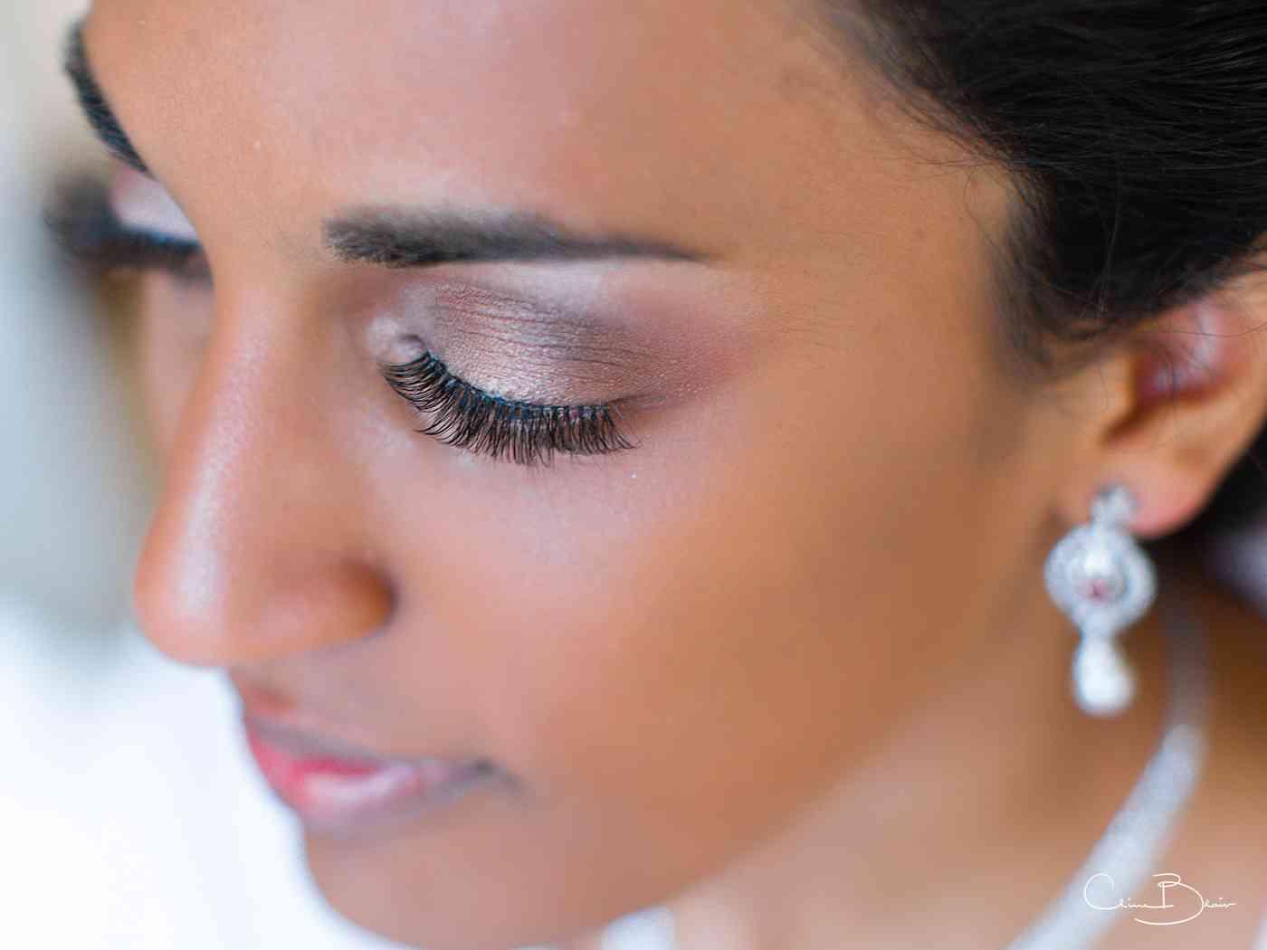 Close-up of bride
