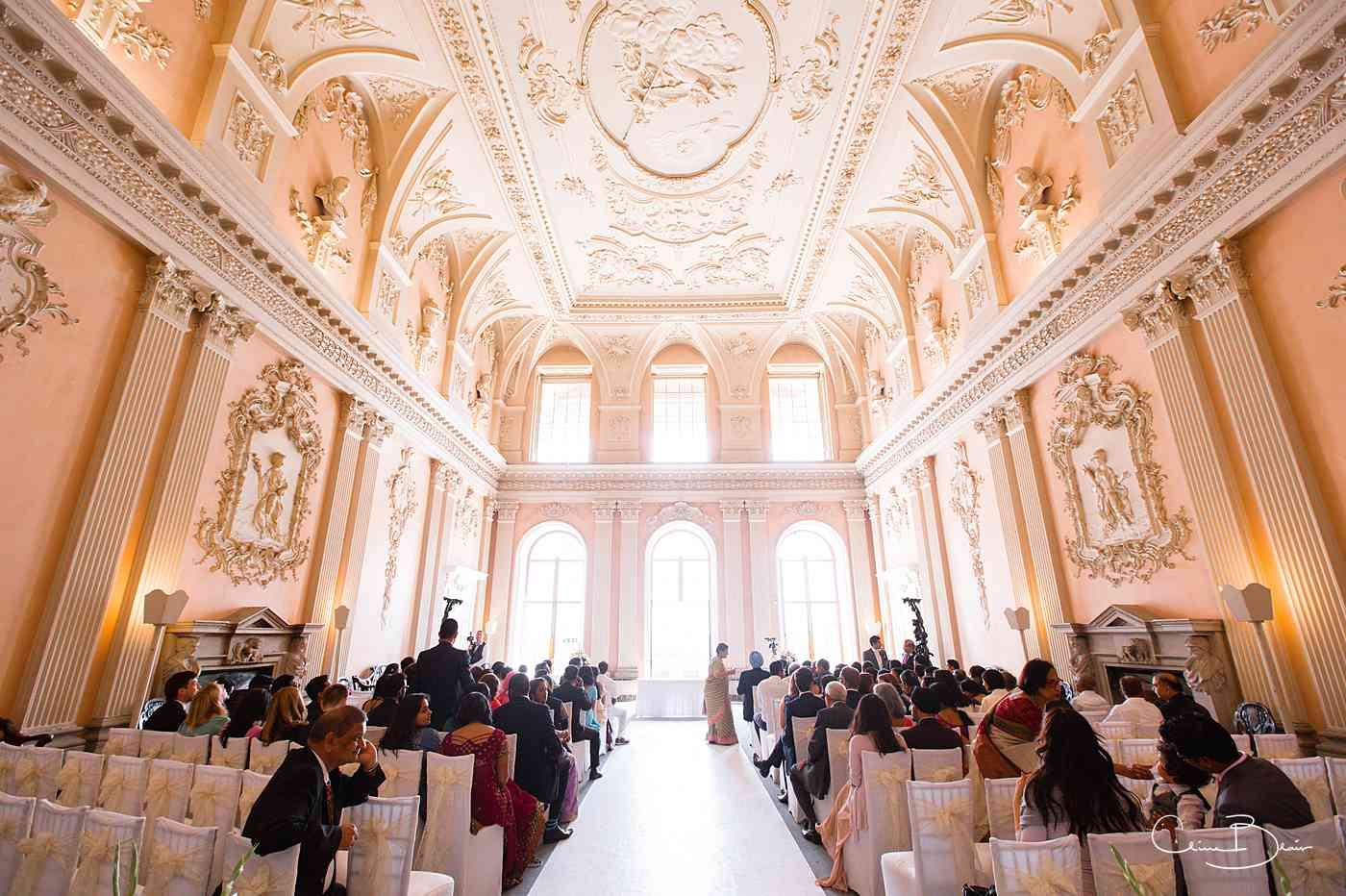 Great Hall in Ragley Hall ready for another Ragley Hall wedding