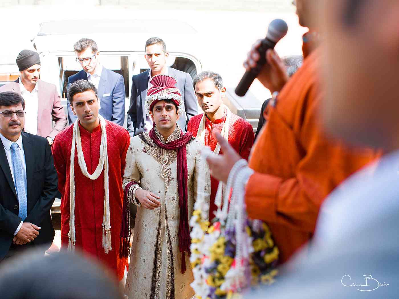 Nervous groom before Hindu wedding