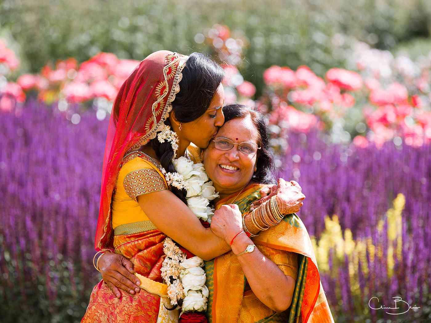 Bride higging her mother
