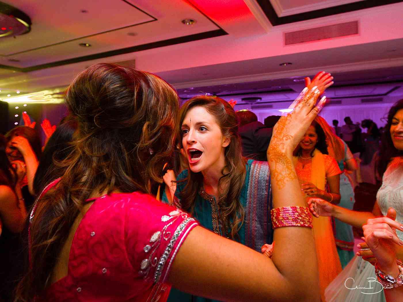 Woman dancing on the dance floor