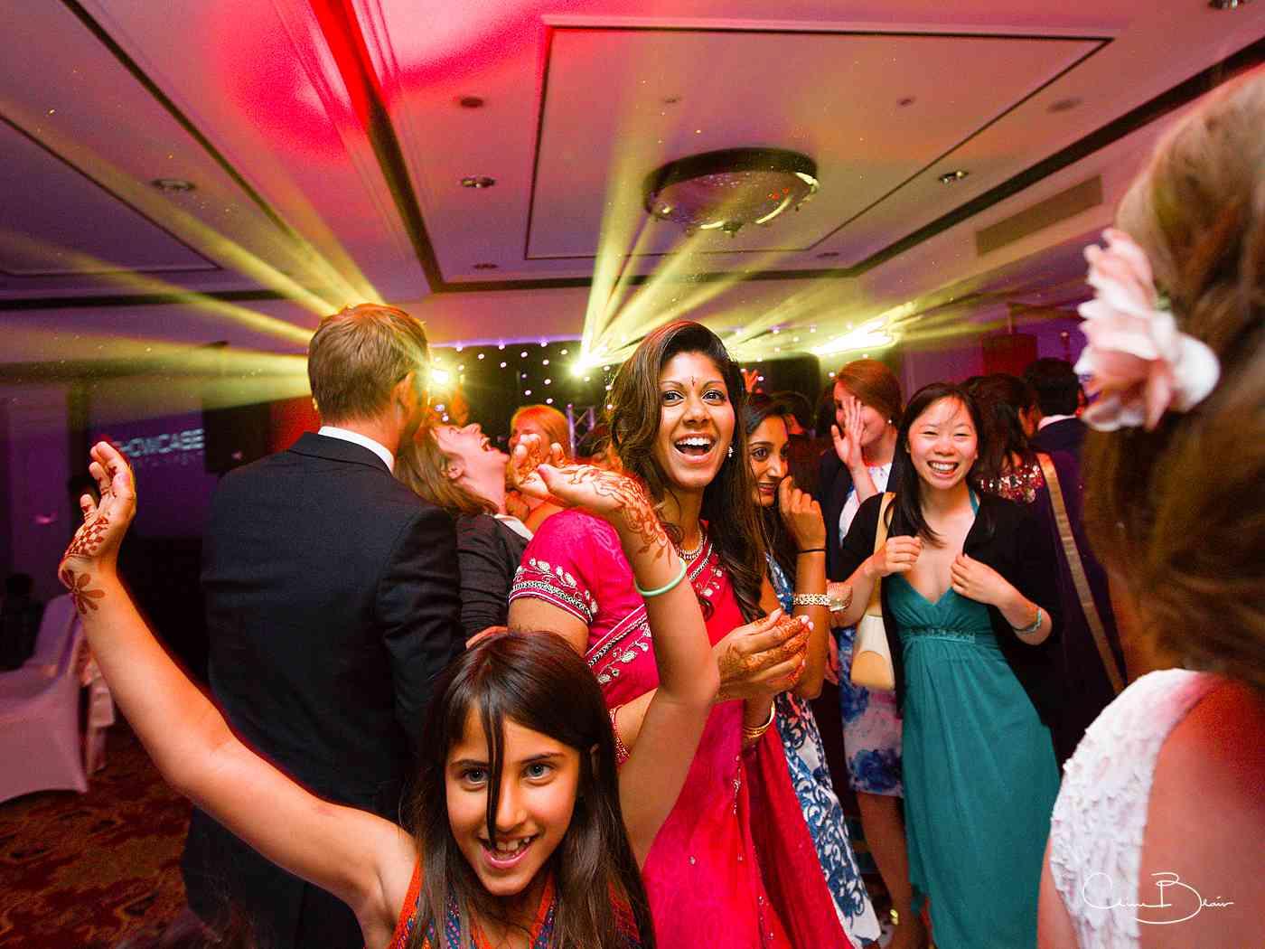 Happy women on the dance floor