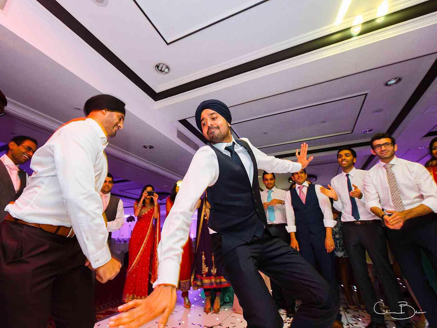 Man dancing on the dance floor