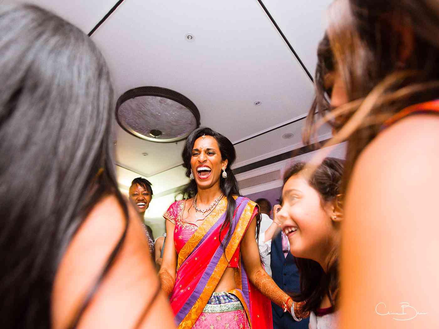 Happy bride on the dance floor
