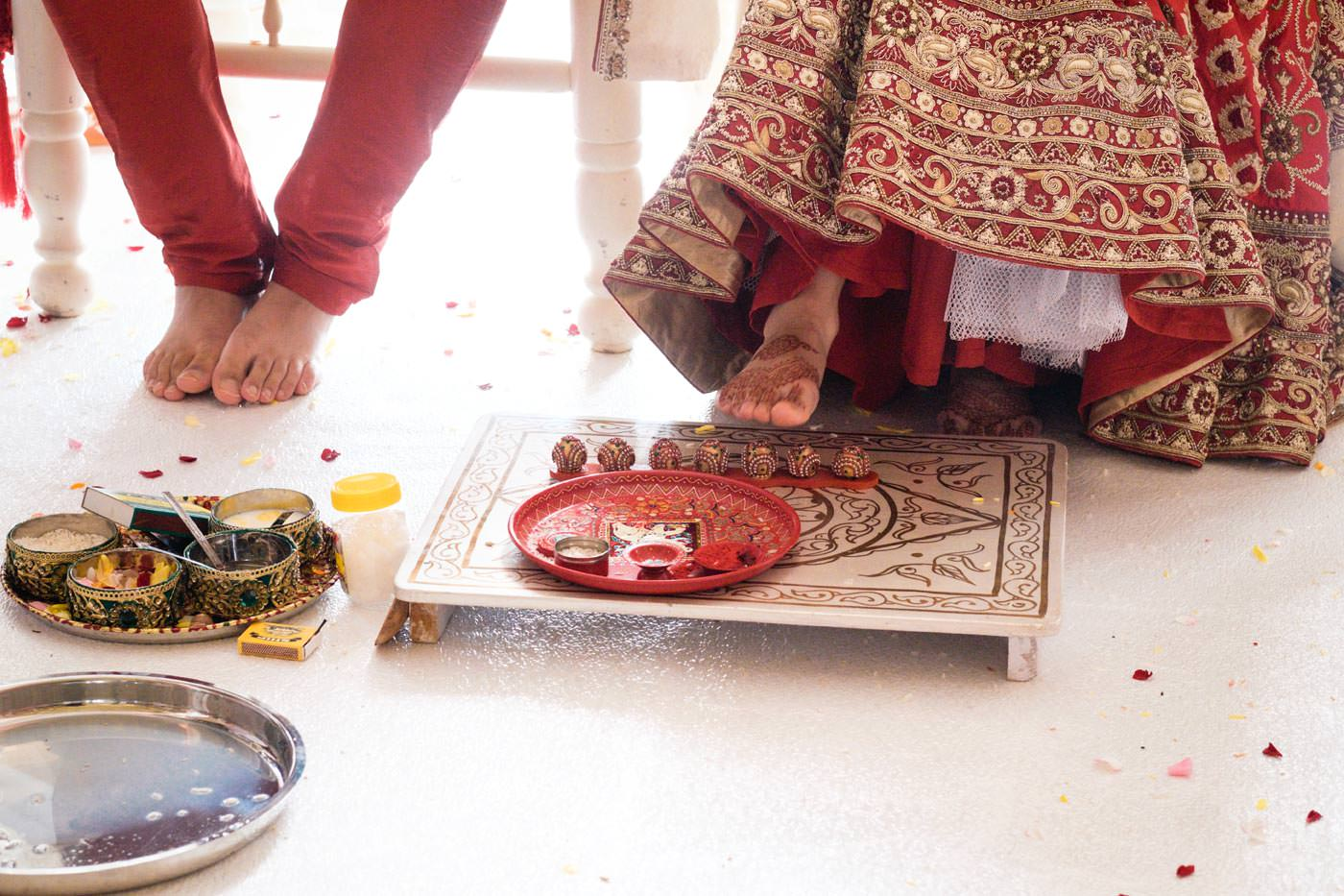 Hindu ceremony moment at Ragley Hall