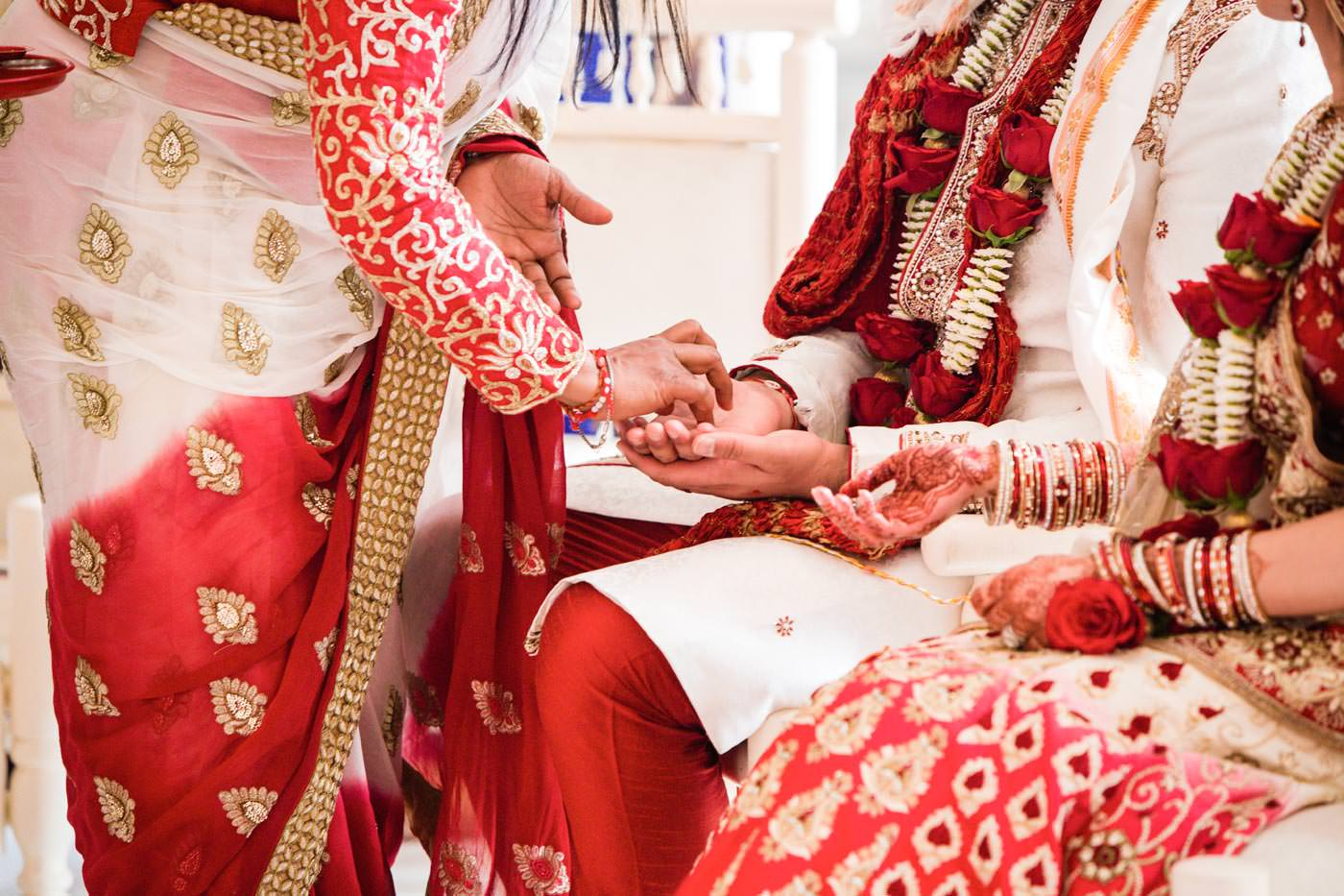 Hindu wedding ceremony moment at Ragley Hall