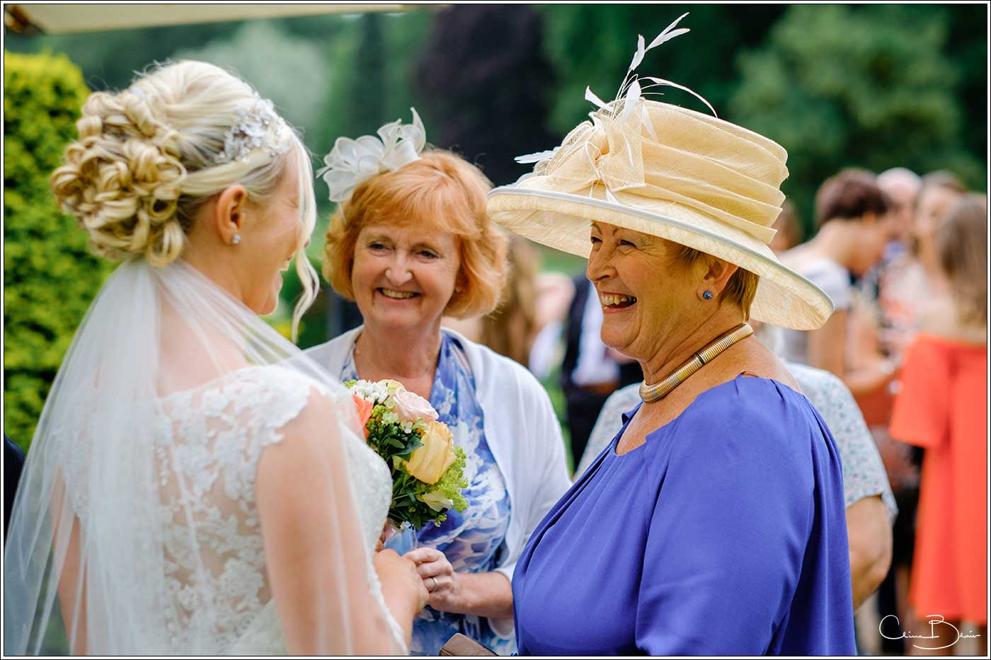 Coombe Abbey wedding photography showing 2 women with bride