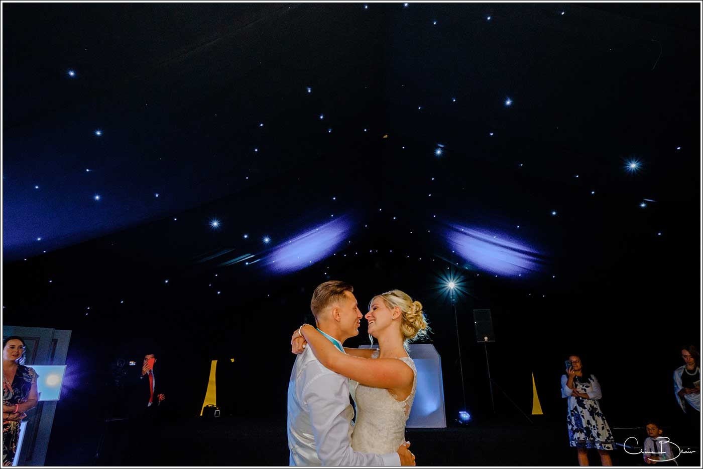 Coombe Abbey wedding photography showing bride and groom dncing on the dance floor