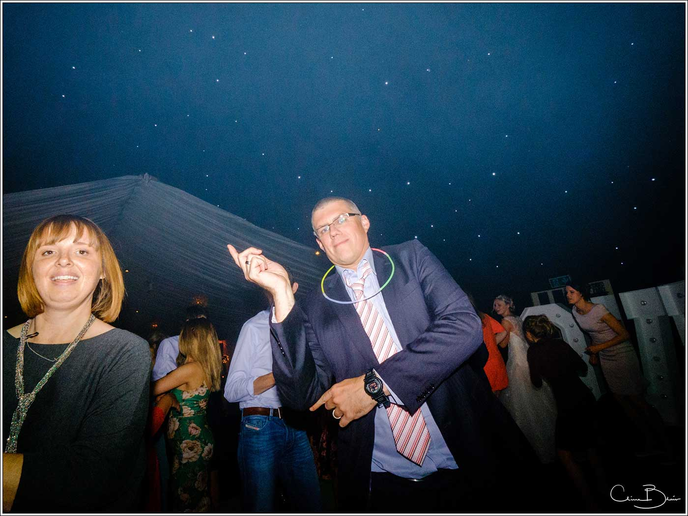 Coombe Abbey wedding photography showing happy man on the dance floor