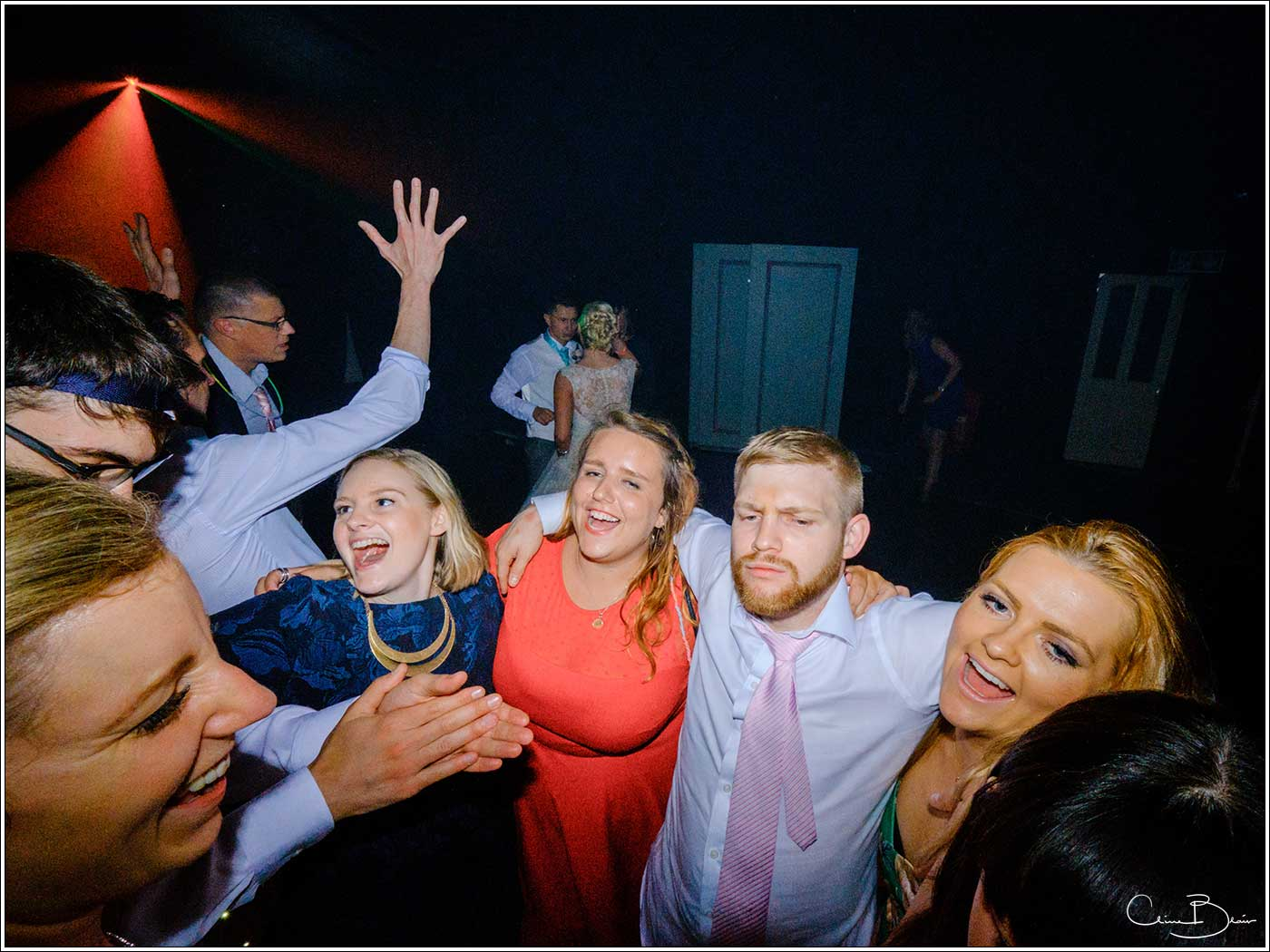 Coombe Abbey wedding photography showing happy guests on the dance floor