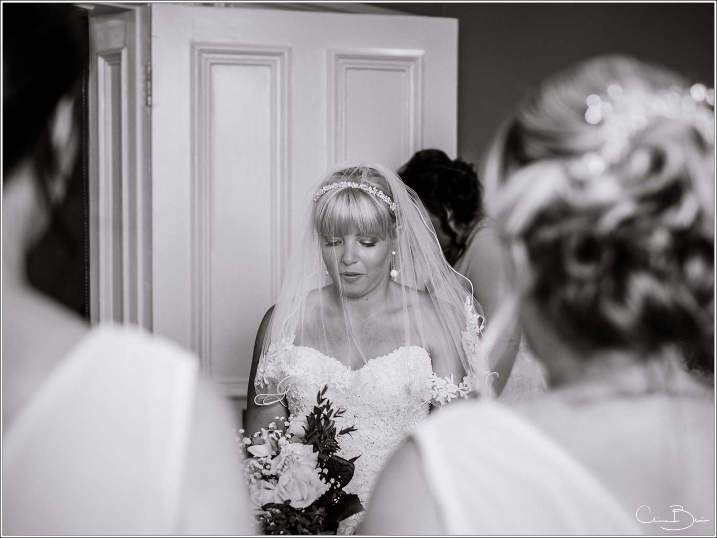 Nervous bride at Pendrell Hall as photographed by a recommended Pendrell Hall photographer