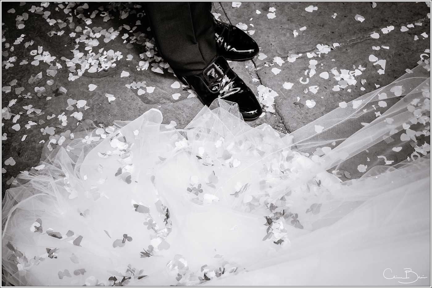 Confetti on ground: Bank House Wedding Photographer Clive Blair Photography. Documentary Birmingham Wedding Photographer