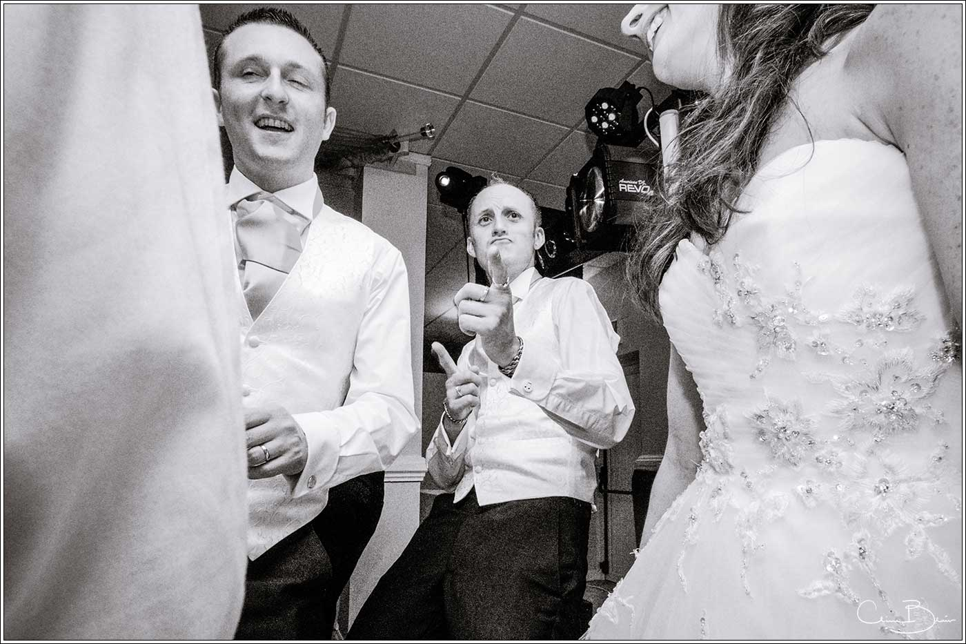 Usher on dancefloor: Bank House Wedding Photographer Clive Blair Photography. Documentary Birmingham Wedding Photographer