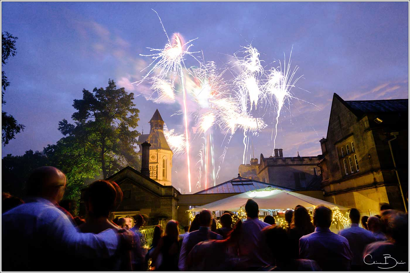 Fireworks-by Hampton manor wedding photographer Clive Blair Photography