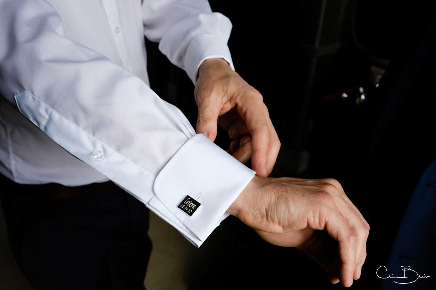 Groom's cufflinks at Grafton Manor