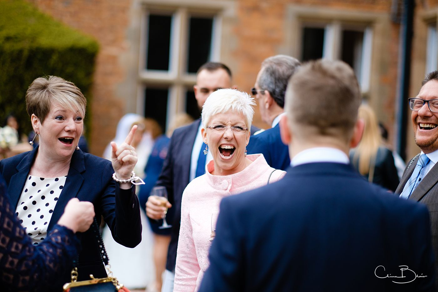 Laughing guests at Grafton Manor