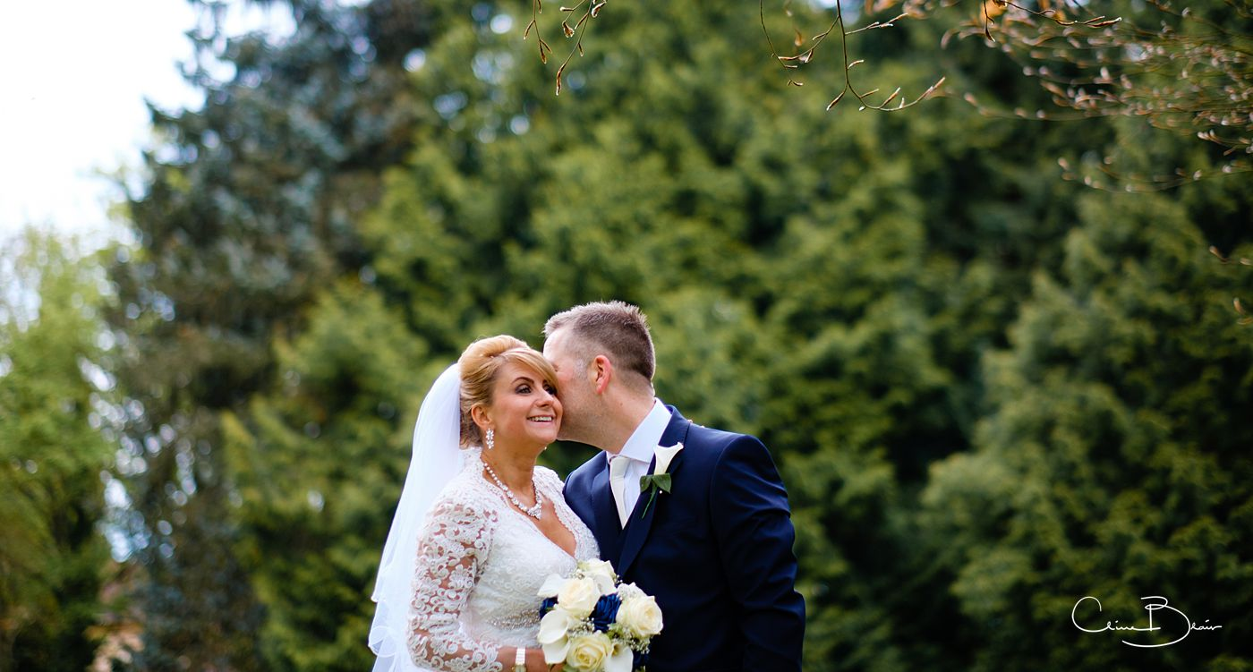 Bride and groom together at Grafton Manor