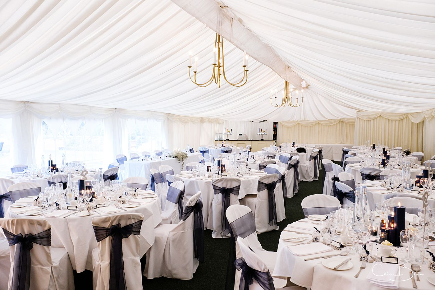 Marquee set up at Grafton Manor