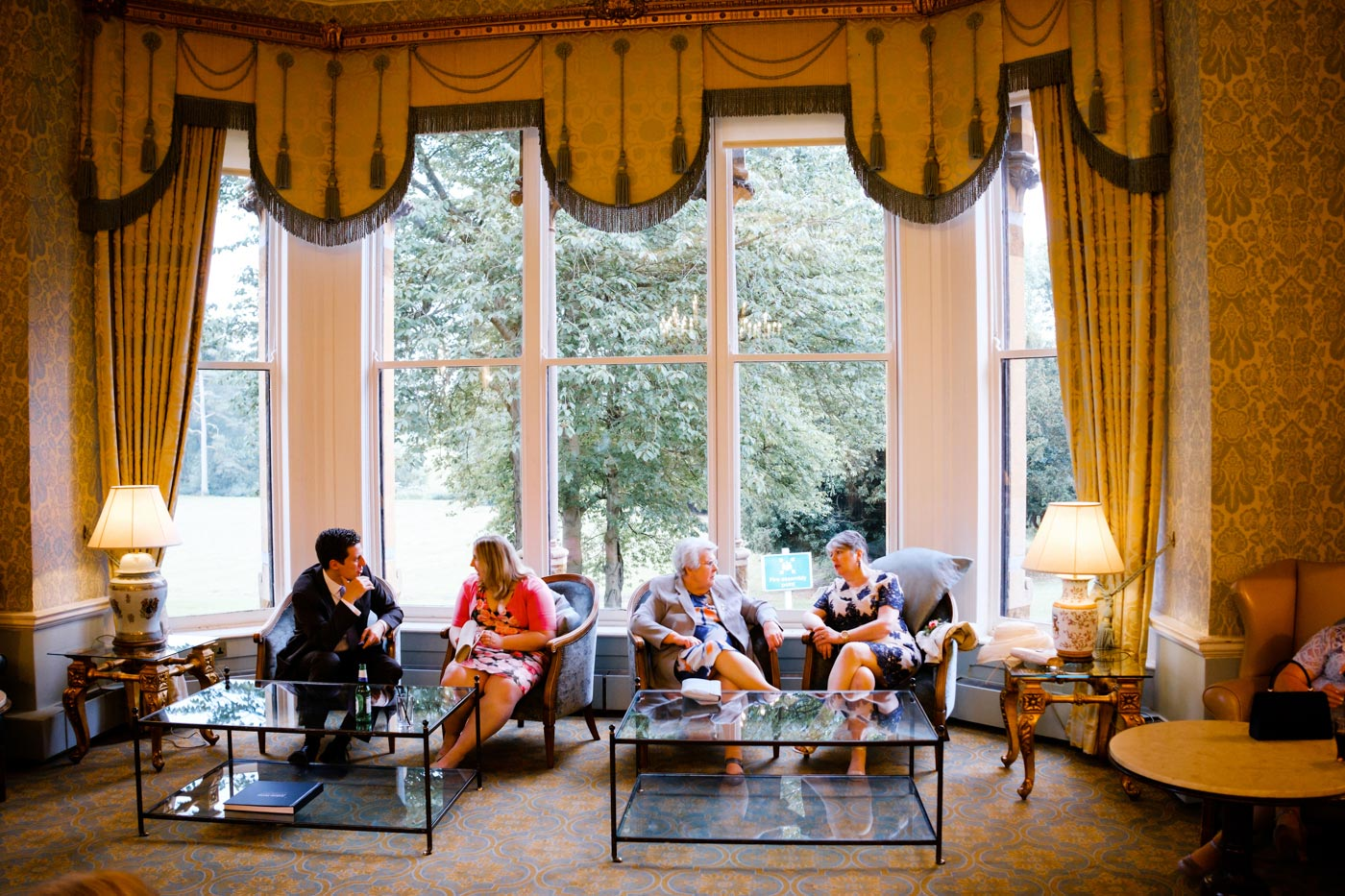 Guests chilling at Ettington Park Hotel