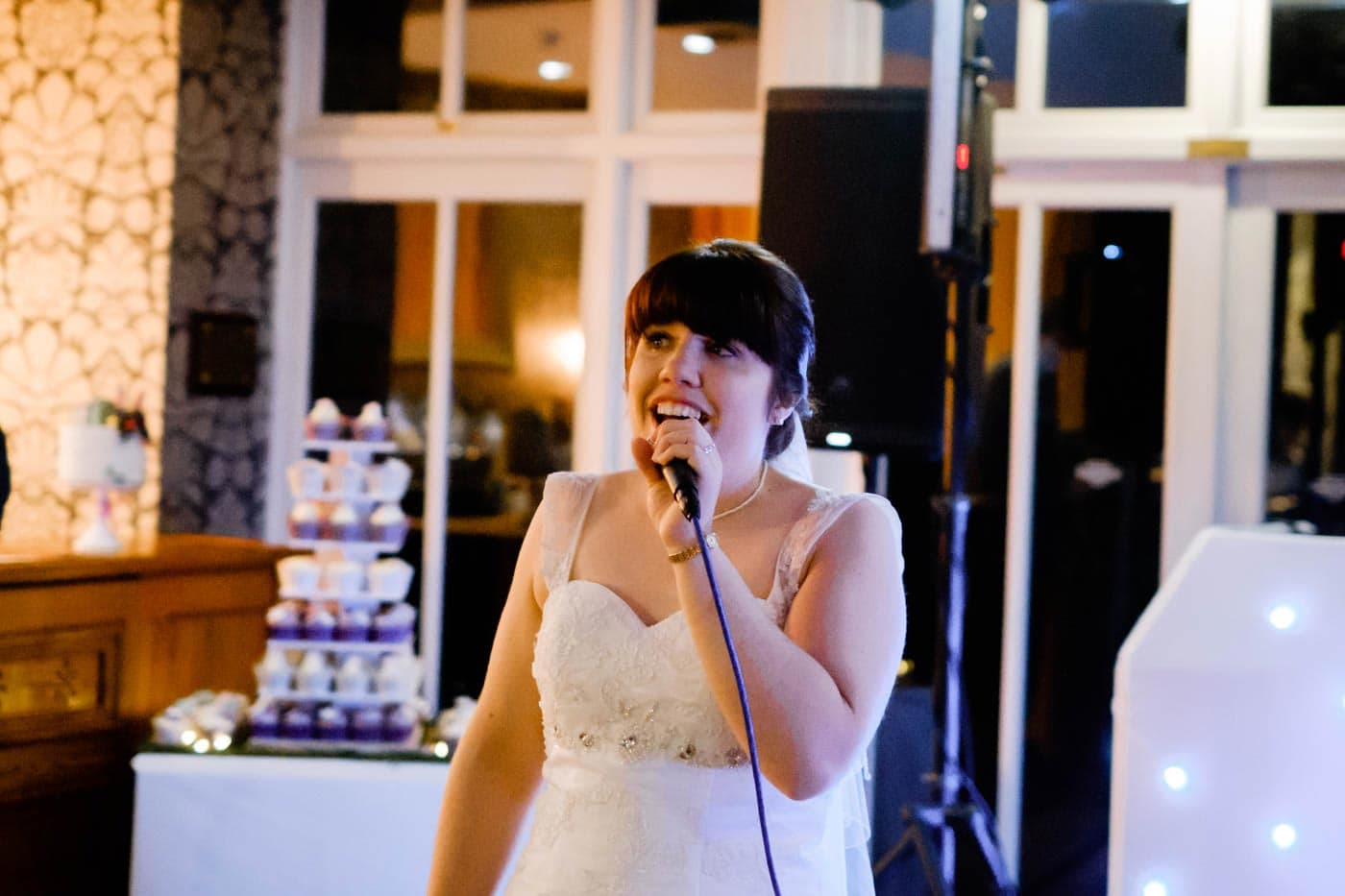 Bride singing a special song for her groom at Broadoaks Country House