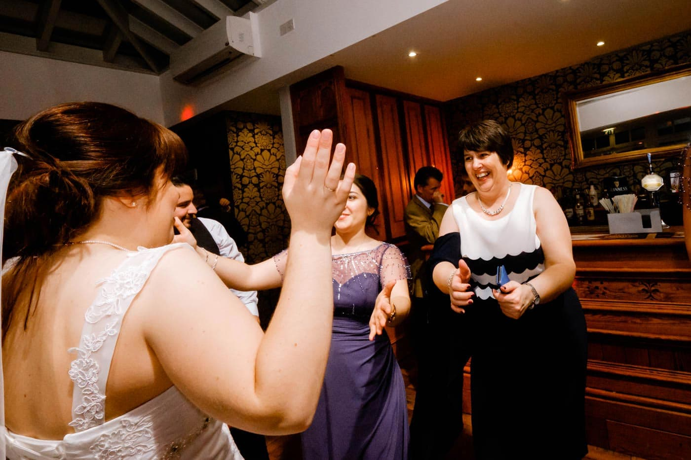 Bride and mother on dance floor