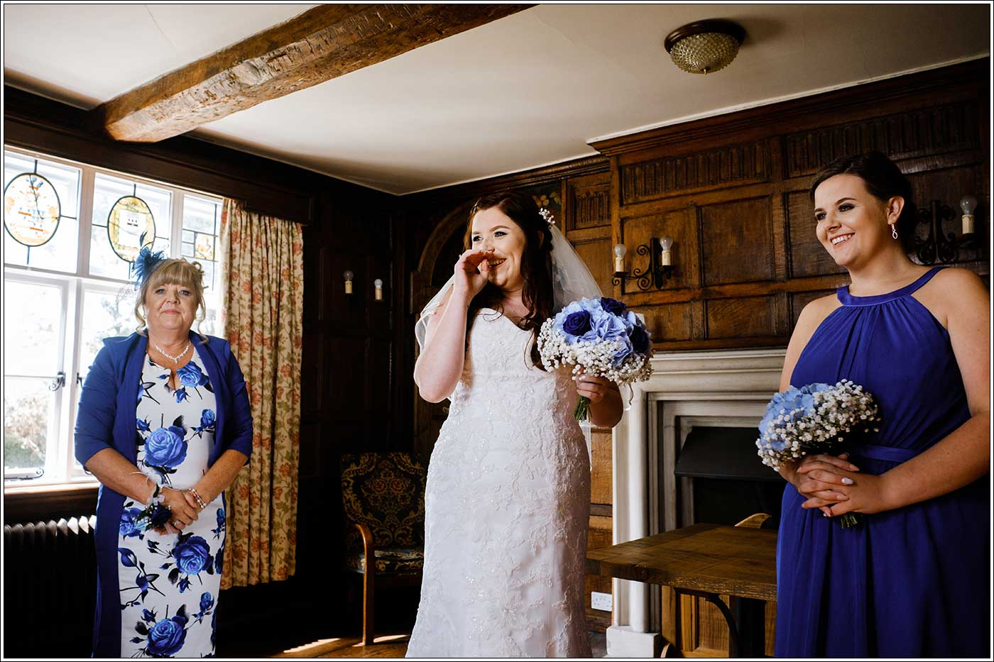 Bride, mother and miad before her wedding