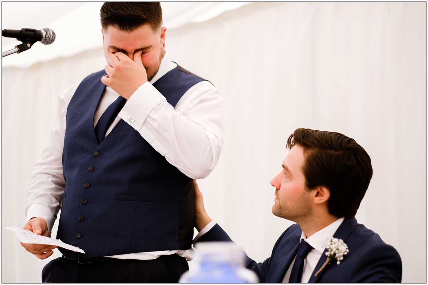 Tearful bestman during his speech