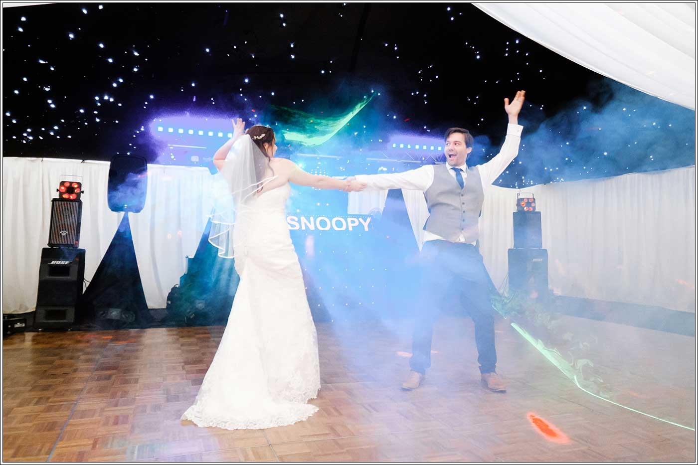 Groom and bride's first dance routine
