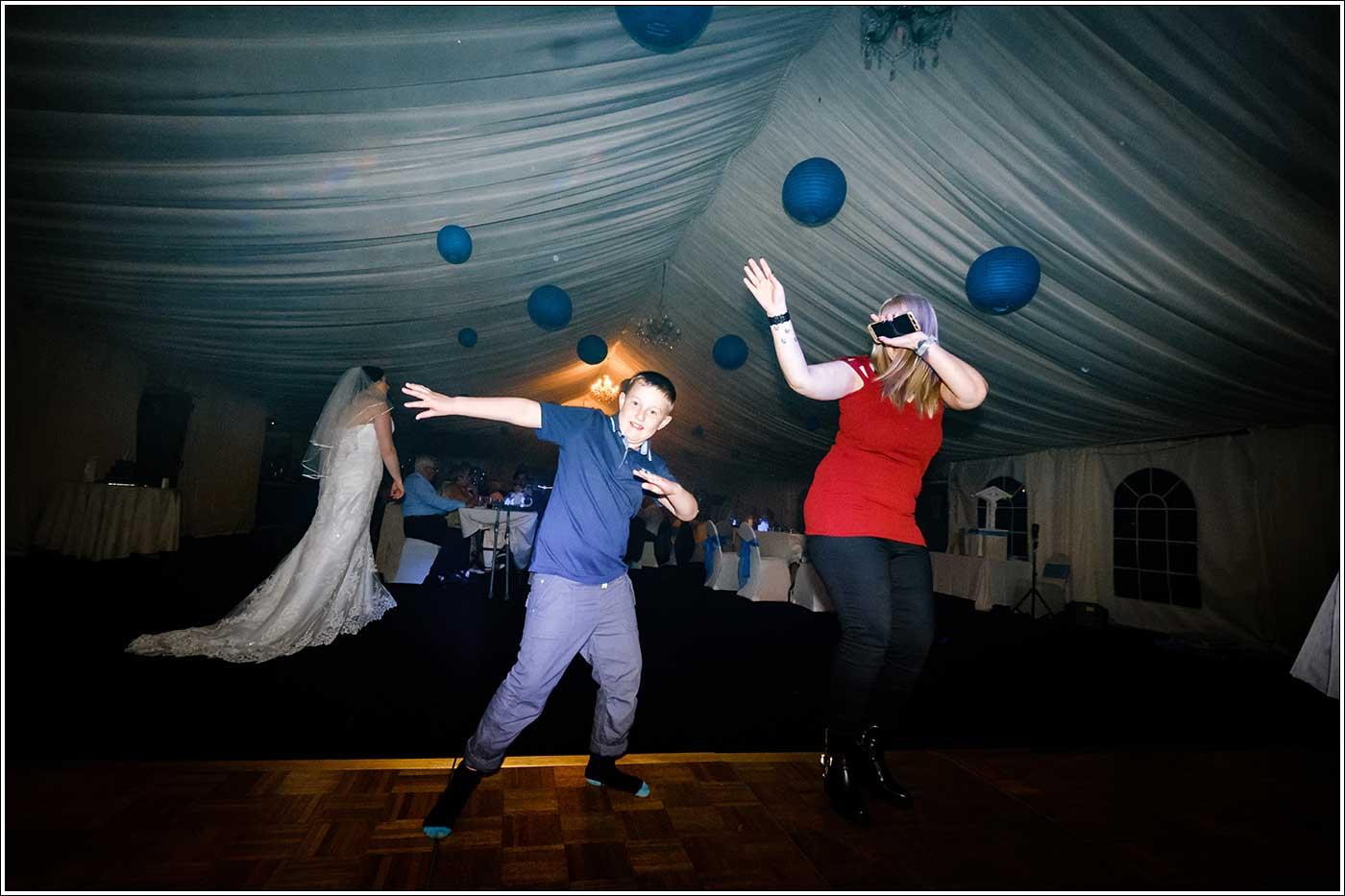 Young man dancing at Park Hall Farm