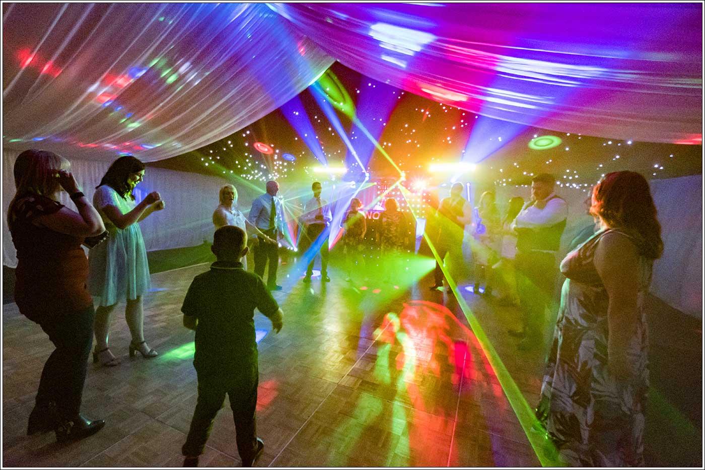 Dancefloor at a Park Hall Farm wedding