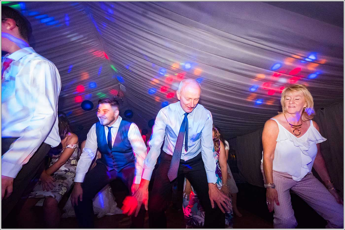 Guests on dancefloor at Park Hall Farm