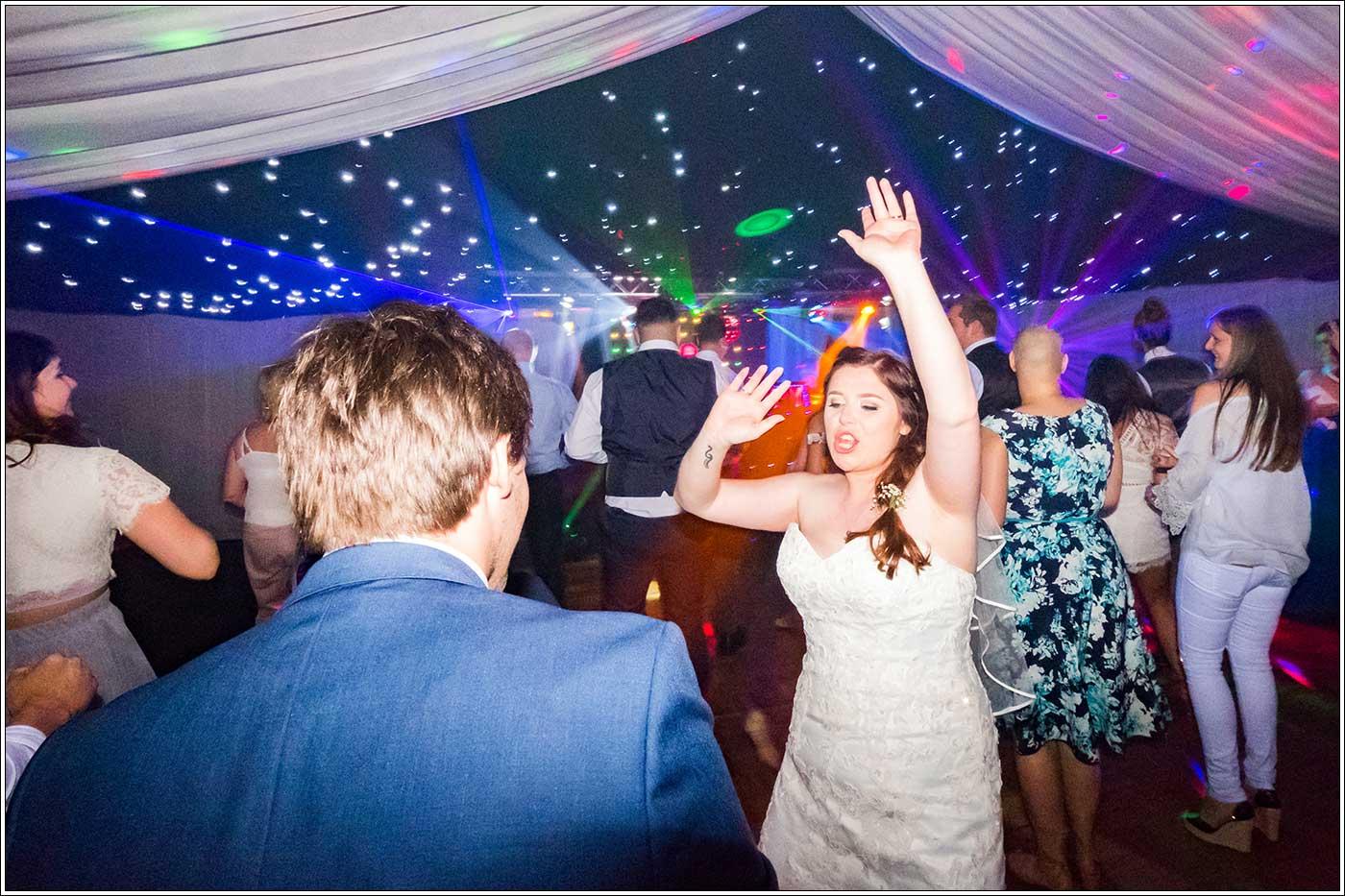 Dancing bride at Park Hall Farm