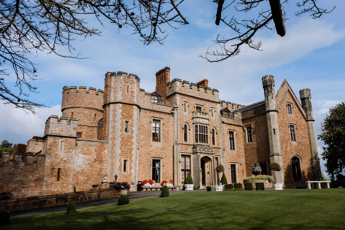 Front of Rowton Castle