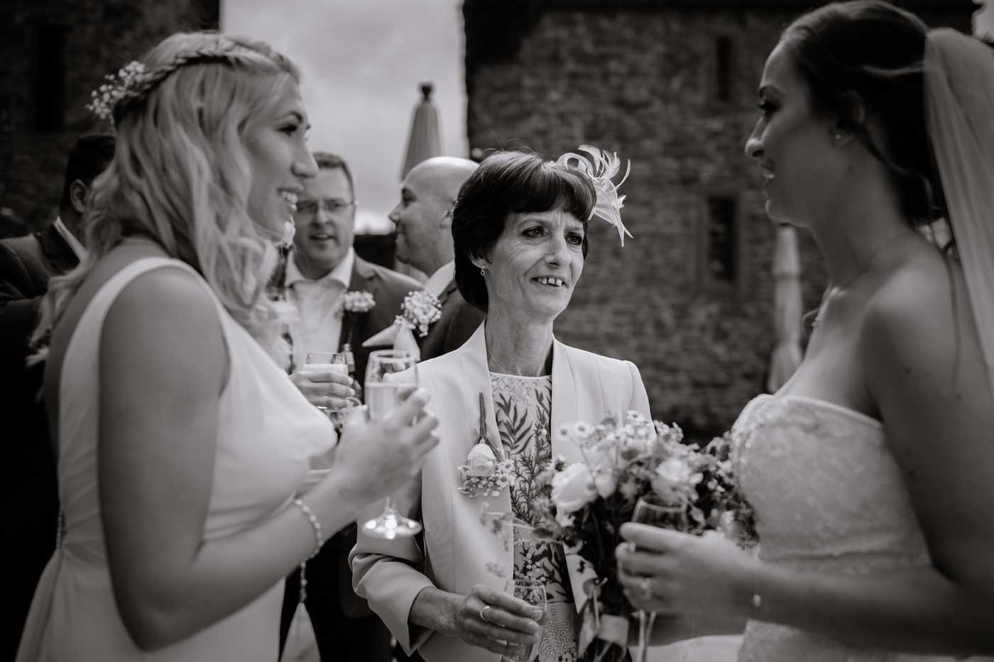 Mother of bride during a Rowton Castle drink's recpetion