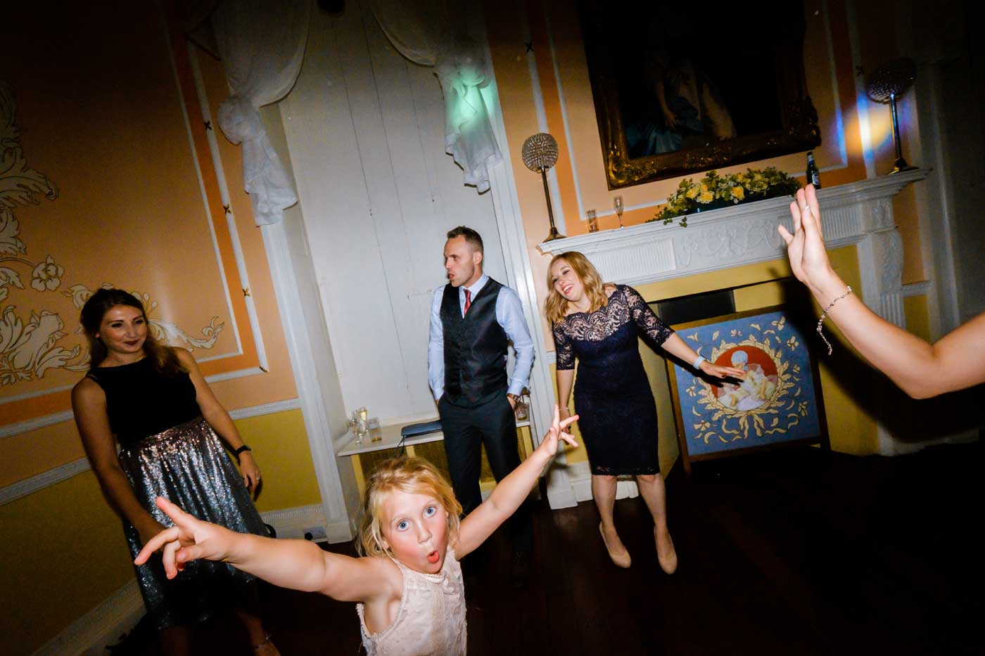 Guests on dance floor at Rowton Castle
