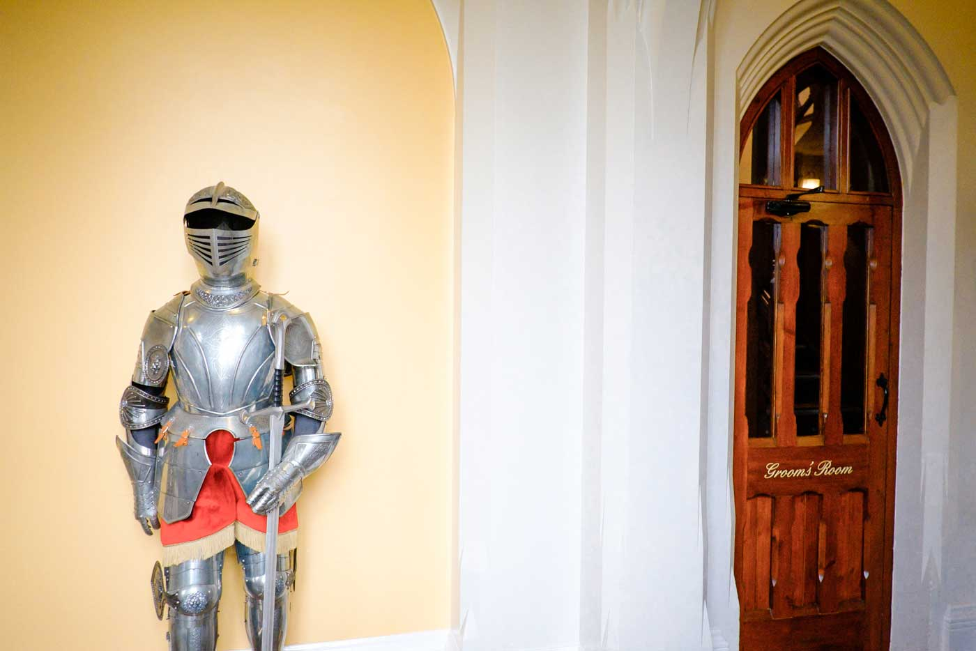 Outside the Groom's Room at Stanbrook Abbey