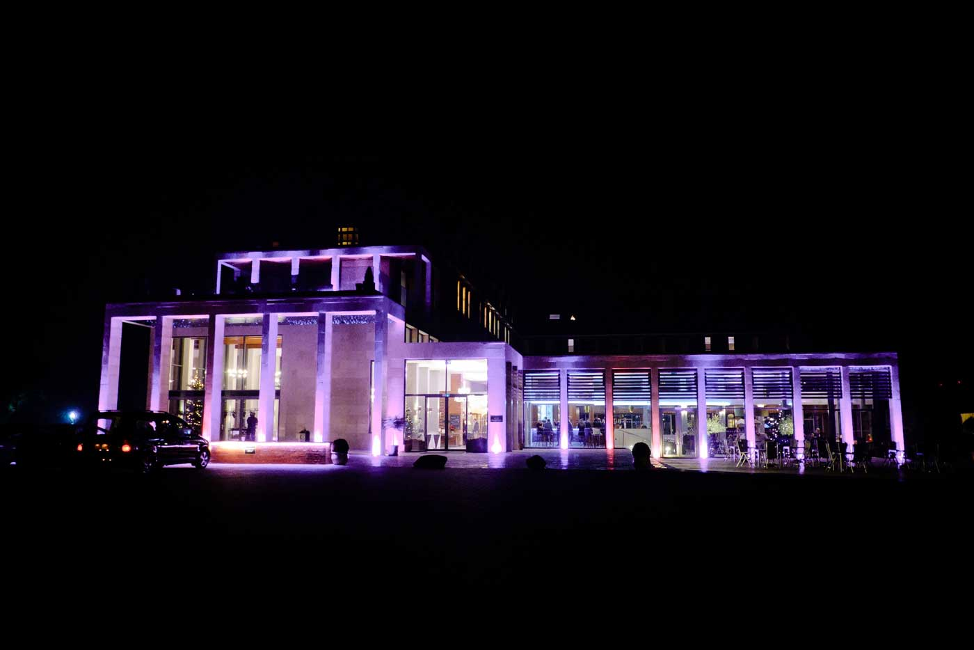 Stanbrook Abbey lightup at night