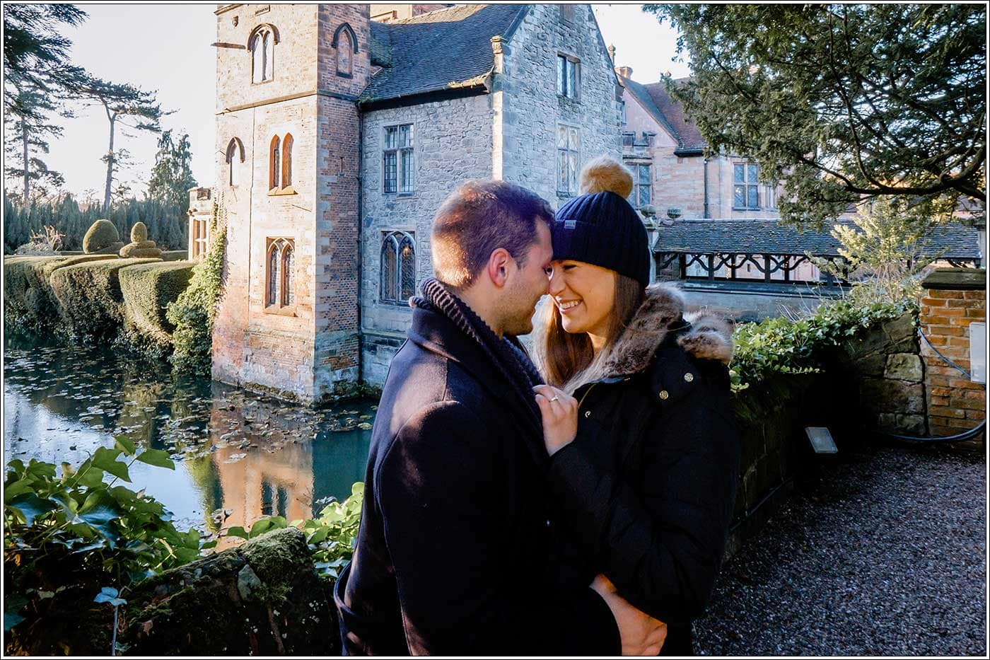 Man and woman together after recently engagement at New Hall hotel