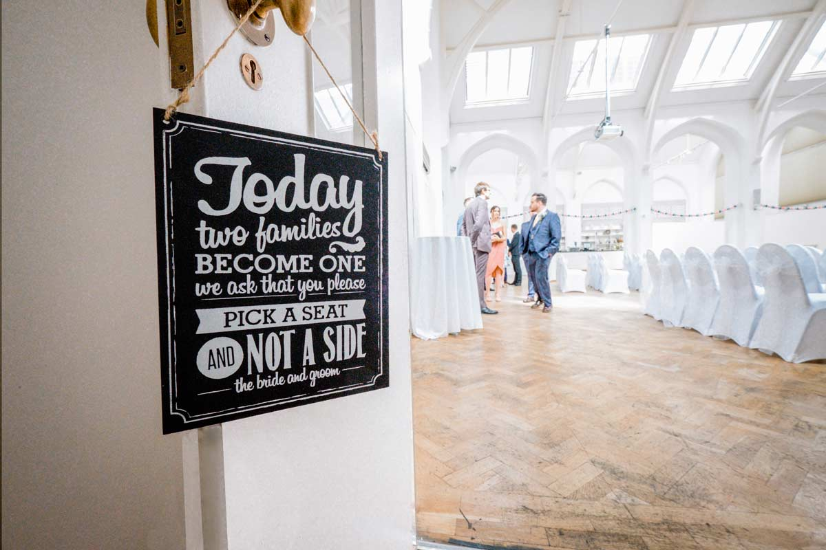 Sign for wedding guests